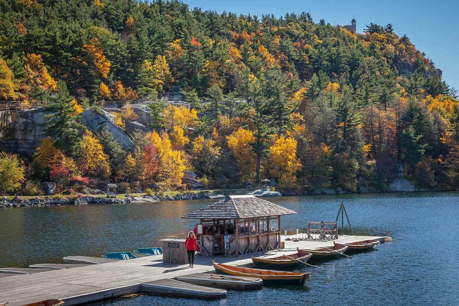 Mohonk Lake - Hudson Valley Fall - Mohonk Mountain House