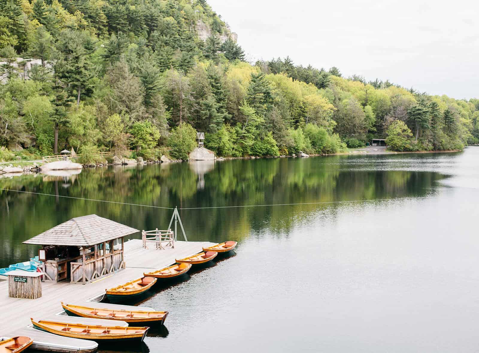 Mohonk lake canoes