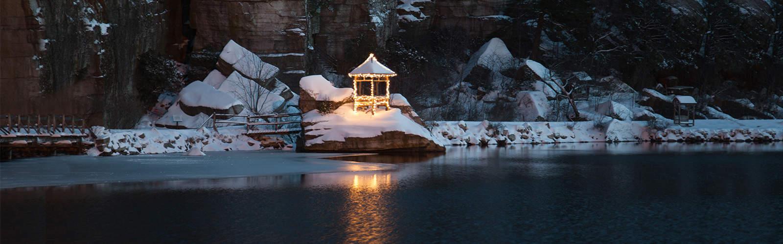Winter Summerhouse on Mohonk Lake